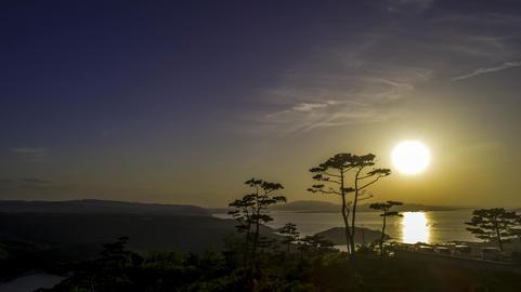 Okinawa Japan setting sun Photo