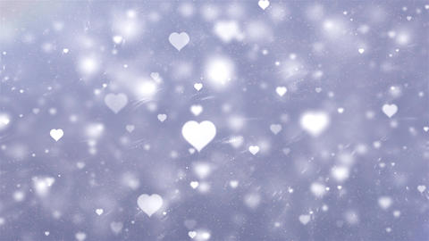 white gray rotate white gray heart Romantic Glowing Love Hearts Particles Moving 動畫