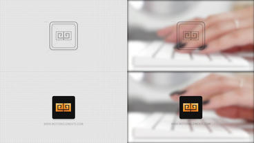 Grid Logo Opener A Rounded Rectangle After Effects Template