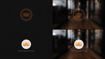 Grid Logo Opener Circle logo Plantilla de After Effects
