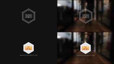 Grid Logo Opener Hexagon logo After Effects Template