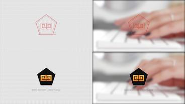 Grid Logo Opener Pentagon logo After Effects Template