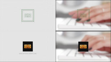 Grid Logo Opener Rectangle logo After Effects Template