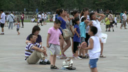 Relax in the weekend of people on street city of Tiananmen Square Footage
