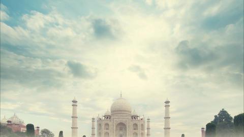 Taj Mahal India Sunrise Footage