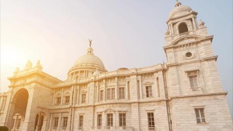 Victoria Memorial in India Live Action