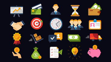 20 Animated Business and Finance Icons 애프터 이펙트 템플릿
