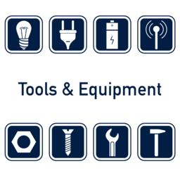 Tools and equipment icon set Vector