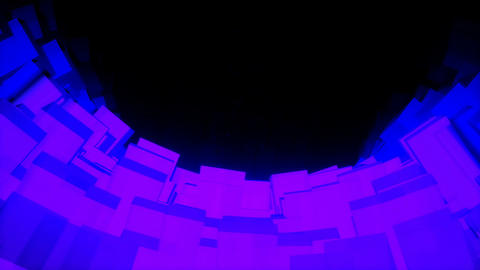 Looped seamless light vj tunnel for event, concert,…, Stock Animation