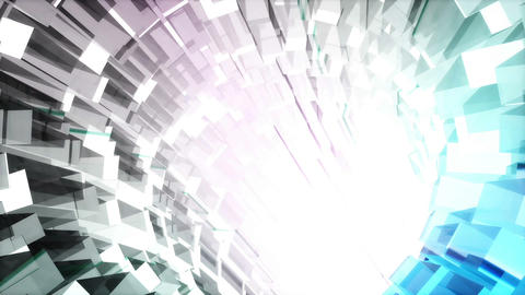 Looped seamless light vj tunnel for event, concert, presentation, music videos, Animation