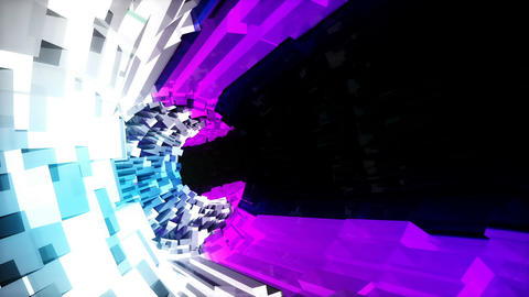 Looped seamless light vj tunnel for event, concert,... Stock Video Footage
