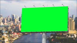 Blank Billboard with Moving Clouds Stock Video Footage