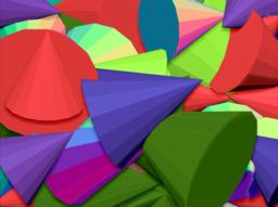 COLOURFUL CONE DESIGN PNG FORMAT FOR BACKGROUND フォト