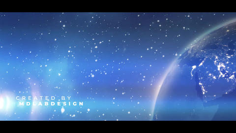 Earth Planet Titles Premiere Pro Template