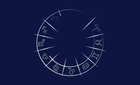 The symbol of astrology 애니메이션