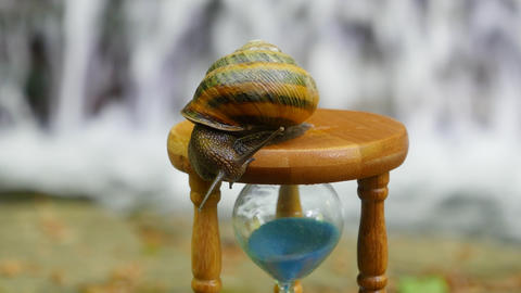 Hourglass, Snail, Mountain river Footage