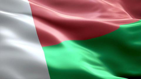 Flag Madagascar Animation