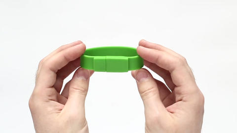 USB Flash Drive Silicone Bracelet Footage