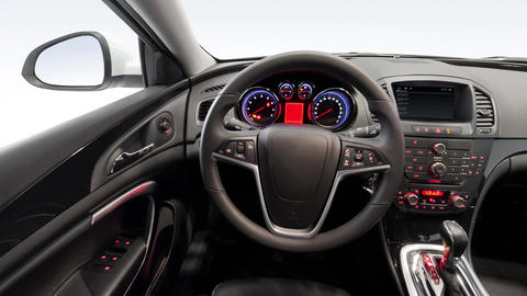 Car Interior Panoramic Shot stock footage