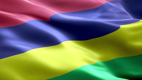 Flag Mauritius Animation