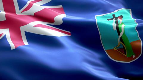 Flag Montserrat Animation