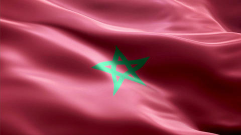 Flag Morocco Animation