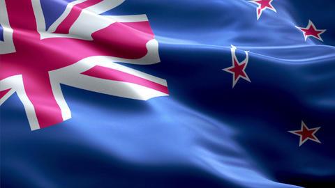 Flag New-Zealand Animation