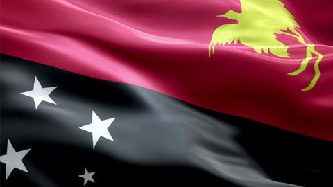 Flag Papua-New-Guinea Animation