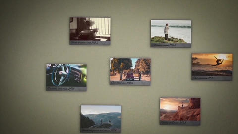 Old Wall Photos After Effects Template