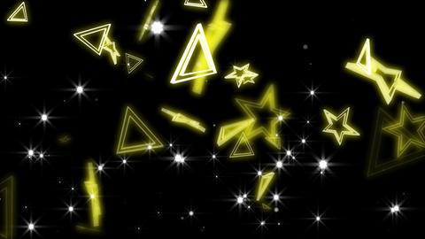 Yellow stars and trianglels CG動画