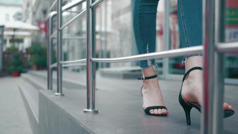 woman's legs on high heels Footage