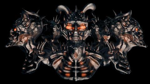 Devil Heads VJ Loop Animation