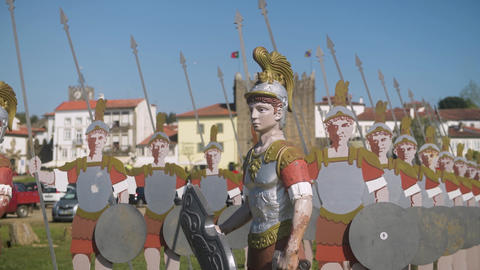 Statues of roman soldiers GIF