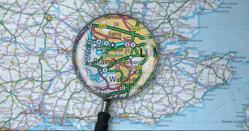 Magnifying Glass On London Animation
