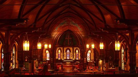 Lunenburg, Nova Scotia- St. John's Anglican Church Interior Footage