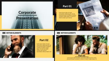 Minimal Corporate Presentation After Effects Template