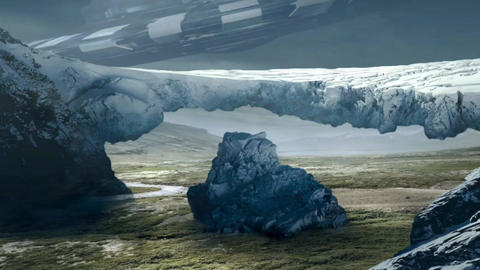 Fantastic Landscape Animation. UFO ver. 06 Animation
