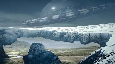 Fantastic Landscape Animation. UFO ver. 03 Animation