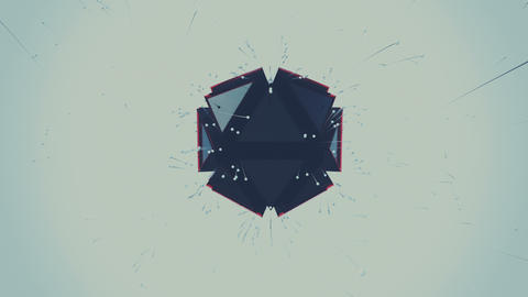 Polygon object releasing tailed particles Live Action