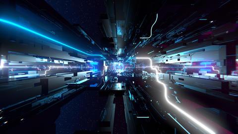 VJ Hi-Tech Space Animation