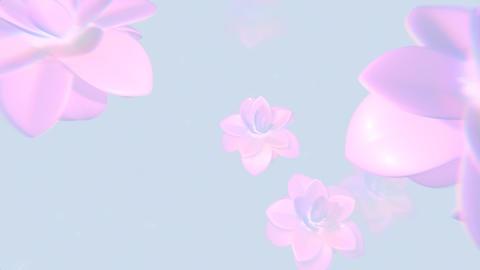 Pink Flower Background CG動画素材
