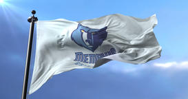 Memphis Grizzlies flag, professional basketball team of NBA, waving - loop Animation