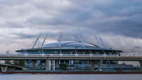 Stadium St. Petersburg Arena. 13.10.2017. timelapse Footage