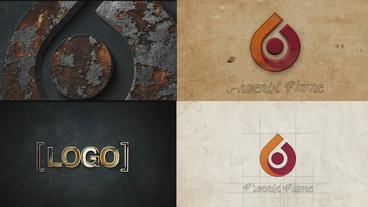 Logo animation pack 4 in one After Effects Template