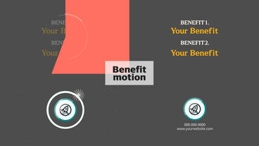 Benefit motion After Effects Template