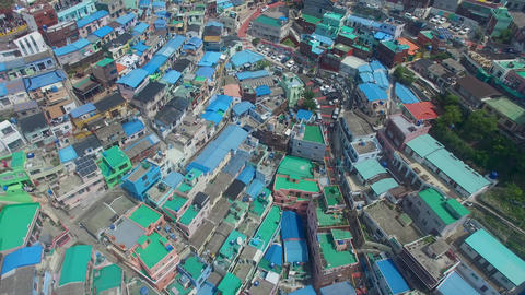 Aerial of Gamcheon Culture Village 07 Footage