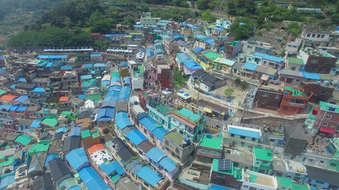 Aerial of Gamcheon Culture Village 15 Live Action