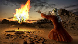 Moses and the burning bush Animation