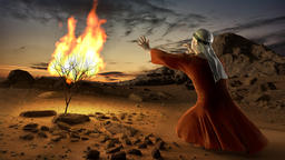 Moses and the burning bush, Stock Animation