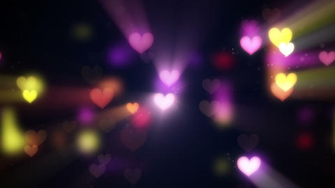 shining heart shapes loopable love background, Stock Animation
